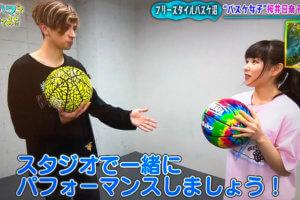 【ロケ地利用】NHKの撮影でスタジオとして使用。タレントの桜井日奈子さんがフリースタイルバスケットボールに挑戦⁉︎